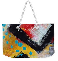 Weekender Tote Bag featuring the painting Suggestion by Suzzanna Frank