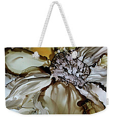 Weekender Tote Bag featuring the painting Sultry Petals by Joanne Smoley