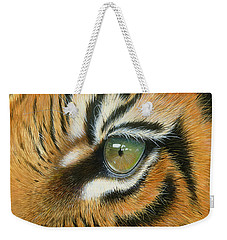 Weekender Tote Bag featuring the painting Sumatra by Mike Brown