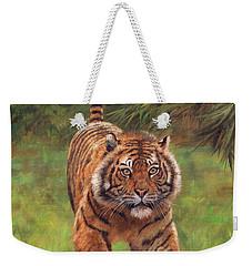 Sumatran Tiger Running Weekender Tote Bag