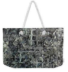 Weekender Tote Bag featuring the painting Sumi Squares Ink #11 by Sarajane Helm