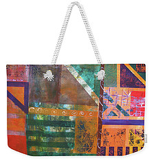 Weekender Tote Bag featuring the mixed media Summer Abstract by Riana Van Staden