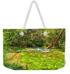Weekender Tote Bag featuring the photograph Summer At Alley Springs by John M Bailey