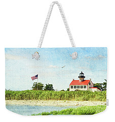 Summer At East Point Lighthouse Weekender Tote Bag
