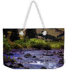 Summer At The Animas River Weekender Tote Bag by Ellen Heaverlo