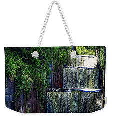 Weekender Tote Bag featuring the photograph Summer At The Five Combines by Kendall McKernon