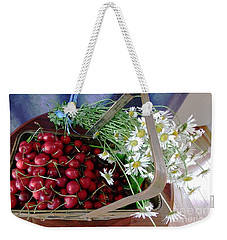 Summer Basket Weekender Tote Bag by Vicky Tarcau