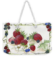 Summer Berries Weekender Tote Bag