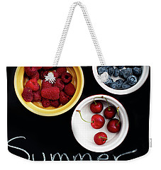 Weekender Tote Bag featuring the photograph Summer Berries by Rebecca Cozart