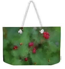Weekender Tote Bag featuring the digital art Summer Berries by Aliceann Carlton