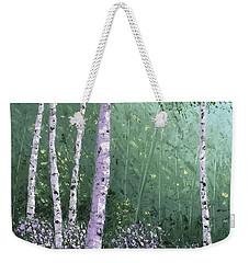 Summer Birch Trees Weekender Tote Bag