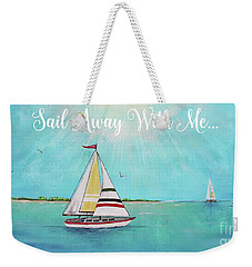 Weekender Tote Bag featuring the painting Summer Breeze-c by Jean Plout