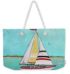 Weekender Tote Bag featuring the painting Summer Breeze-d by Jean Plout