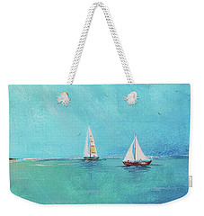 Weekender Tote Bag featuring the painting Summer Breeze-e by Jean Plout