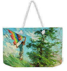 Weekender Tote Bag featuring the painting Summer Breeze by Steve Henderson