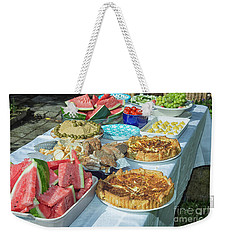 Summer Buffet In Garden Weekender Tote Bag by Patricia Hofmeester
