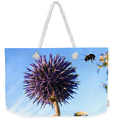 Weekender Tote Bag featuring the photograph Summer Busy Bee by Roger Bester