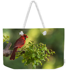 Summer Cardinal New Jersey Weekender Tote Bag