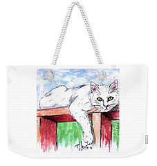 Summer Cat Weekender Tote Bag