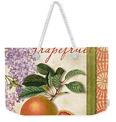 Summer Citrus Grapefruit Weekender Tote Bag by Mindy Sommers