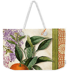 Summer Citrus Orange Weekender Tote Bag by Mindy Sommers