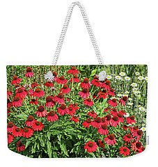 Weekender Tote Bag featuring the photograph Summer Color by Denise Romano
