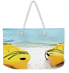 Weekender Tote Bag featuring the photograph Summer Colors On The Beach by Shelby Young