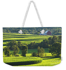 Weekender Tote Bag featuring the photograph Summer Cornfield Landscape by Alan L Graham