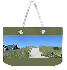 Summer Cottage Cape Cod Weekender Tote Bag by Rita Brown