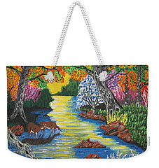 Summer  Deer Crossing Weekender Tote Bag