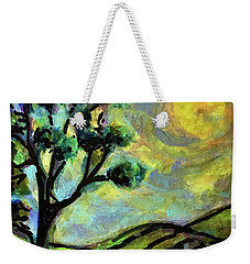 Weekender Tote Bag featuring the painting Summer Day by Rae Chichilnitsky