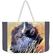 Summer Dozing - Buffalo Weekender Tote Bag by Greg Sigrist