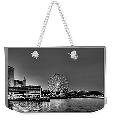 Summer Eve On The Seattle Waterfront Weekender Tote Bag by Greg Sigrist