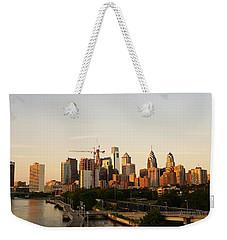 Summer Evening In Philadelphia Weekender Tote Bag by Ed Sweeney