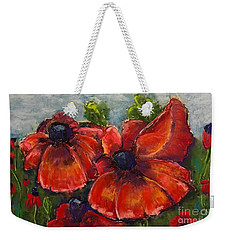Summer Field Of Poppies Weekender Tote Bag