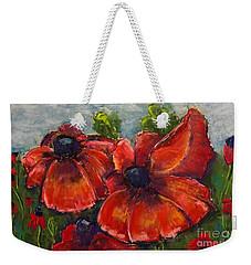 Summer Field Of Poppies Weekender Tote Bag