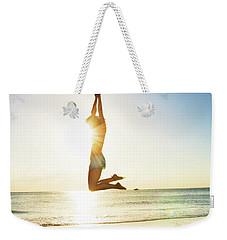 Summer Fitness Girl Weekender Tote Bag