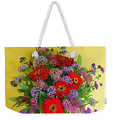 Weekender Tote Bag featuring the photograph Summer Flower Bouquet by Byron Varvarigos
