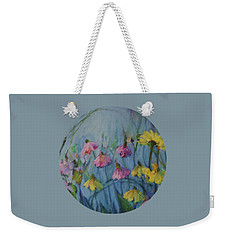 Summer Flower Garden Weekender Tote Bag by Mary Wolf