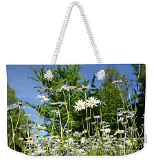 Weekender Tote Bag featuring the photograph Summer Flowers by Kennerth and Birgitta Kullman