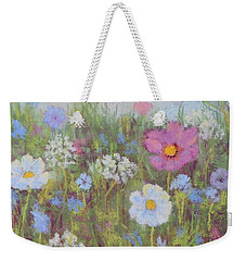 Summer Flowers Weekender Tote Bag by Nancy Jolley