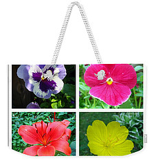 Summer Flowers Window Weekender Tote Bag by Maciek Froncisz