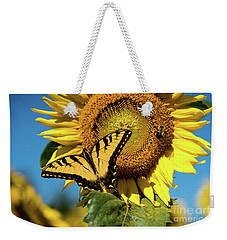 Weekender Tote Bag featuring the photograph Summer Friends by Sandy Molinaro