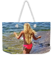 Weekender Tote Bag featuring the photograph Summer Fun by Kathy Kelly