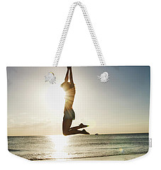 Summer Girl Summer Jump  Weekender Tote Bag by Amyn Nasser