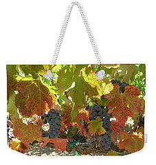 Weekender Tote Bag featuring the photograph Summer Grapes by Bonnie Muir
