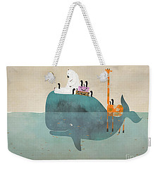 Weekender Tote Bag featuring the painting Summer Holiday by Bri B
