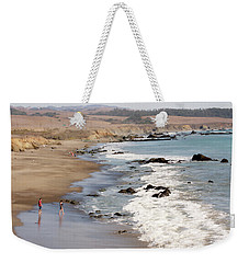 Weekender Tote Bag featuring the photograph Summer In San Simeon by Art Block Collections