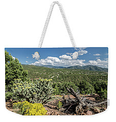 Weekender Tote Bag featuring the photograph Summer In Santa Fe by Margaret Pitcher