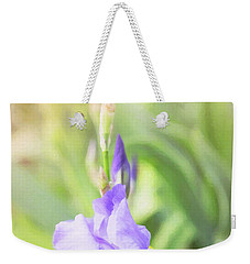 Weekender Tote Bag featuring the photograph Summer Iris by Sue Collura